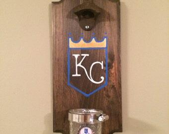 Kansas City Royals Rustic Wall-Mount Bottle Opener
