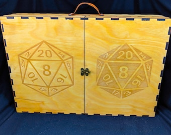 Dungeon Master Case | Dungeon Master Screen & Rule Books | DM Wooden Screen