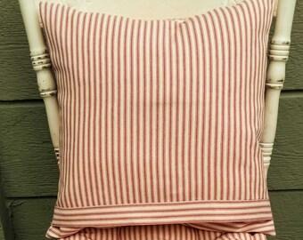 Farmhouse Ticking Pillow Cover