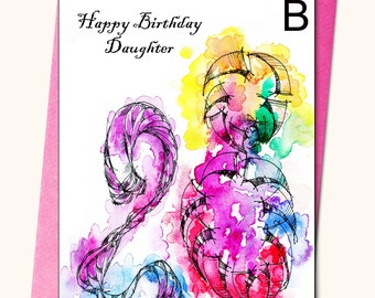 28th Birthday Greeting card, A4,(8''x 11''), Personalised card, Any name on the cards, Age specific birthday card
