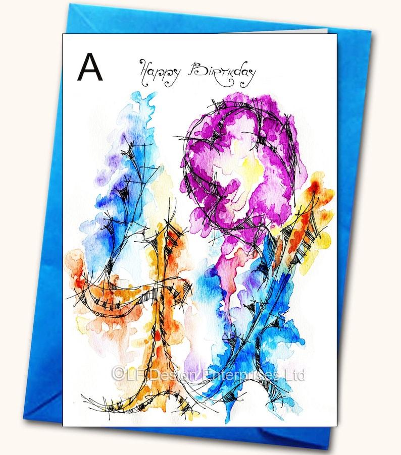 Geburtstag e card personalisiert