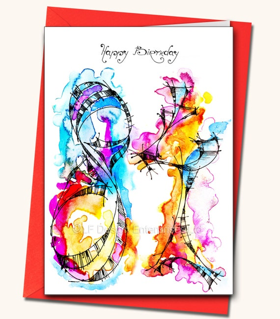 84th Birthday EXTRA LARGE Greeting Card Personalised Cards