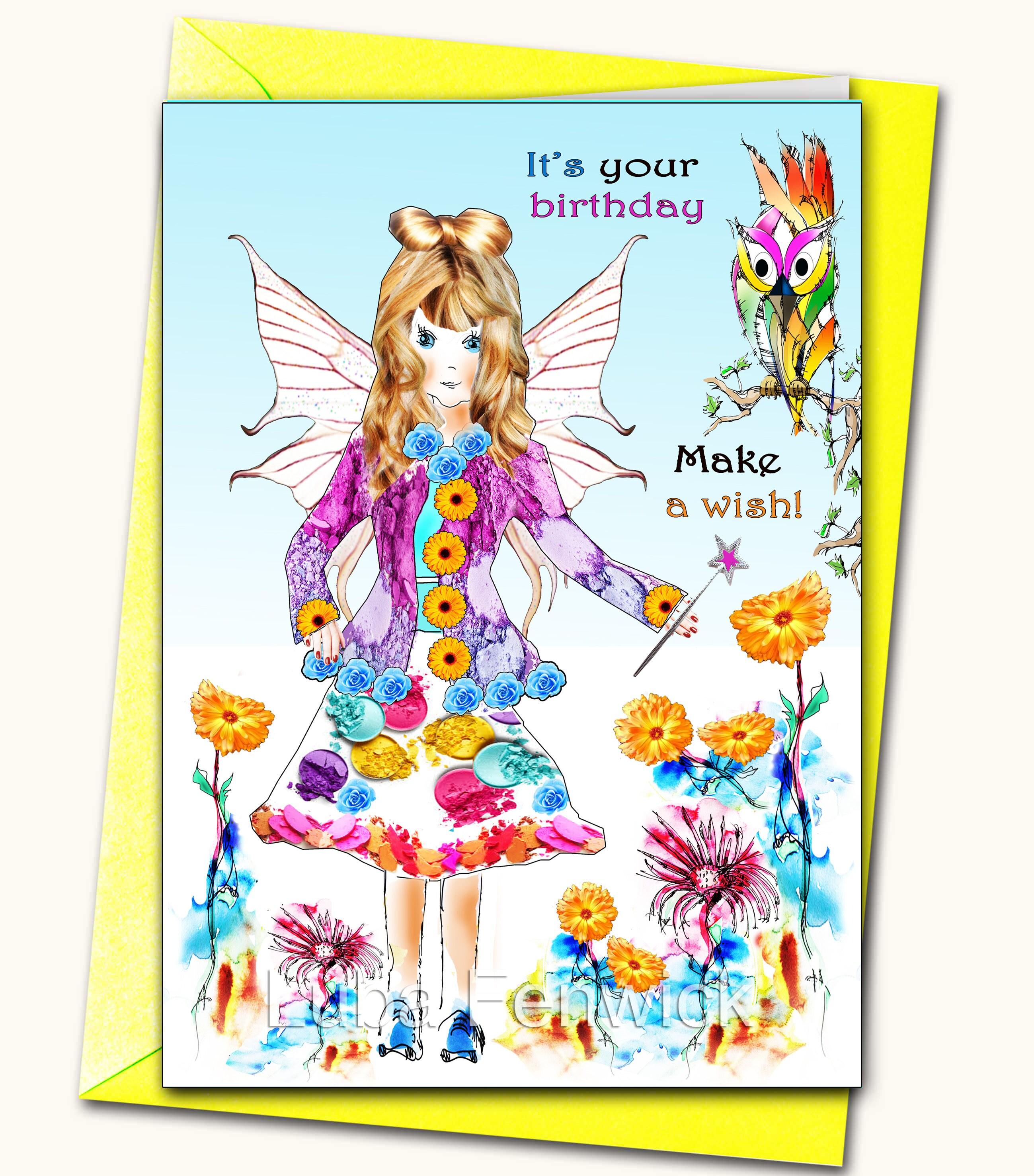 Happy Birthday Sister Friend Niece Daughter Girl Fairy