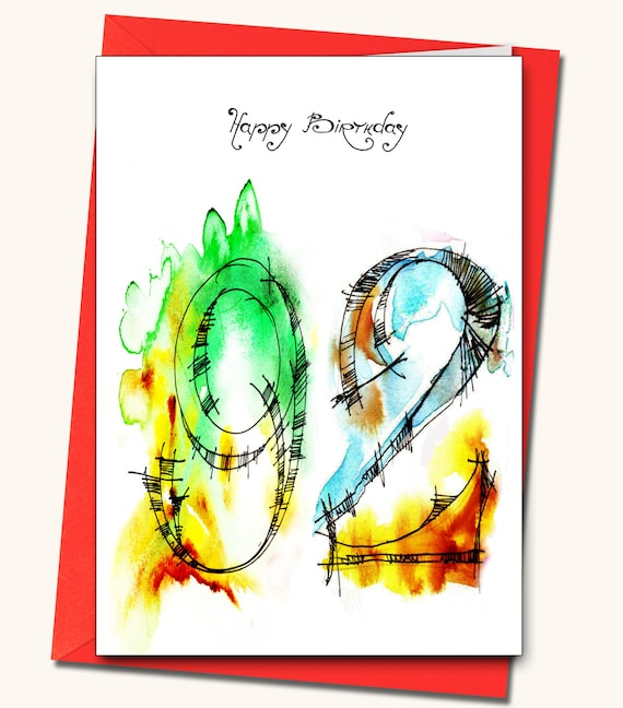 92nd Birthday Greeting Card Personalised Cards Any Name On