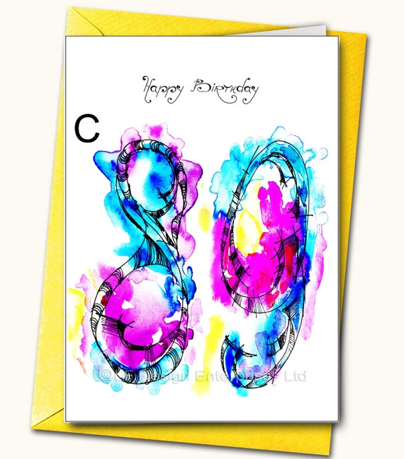 89th EXTRA LARGE Greeting Card A48x