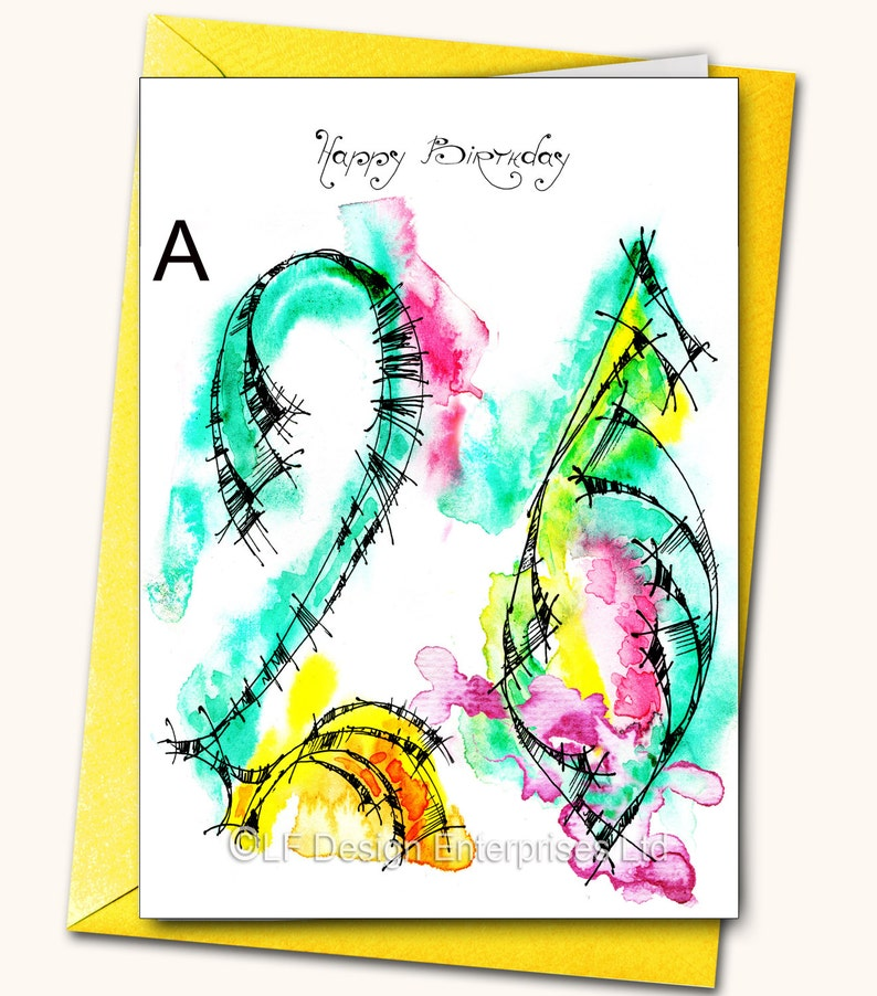 26th Birthday Greeting Card Personalised Cards Any Name On The Age Specific Watercolour