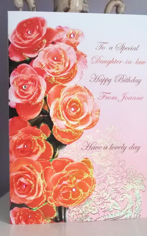 Schwiegertochter Tochter Mutter Schwester Freund Geburtstag Grußkarte Personalisierte Karten Bon Anniversaire Alles Gute Zum Geburtstag