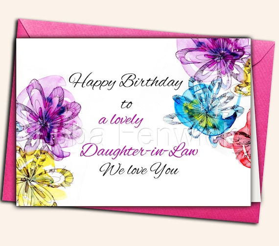 Happy Birthday Daughter In Law Sister Mother Nana Etsy