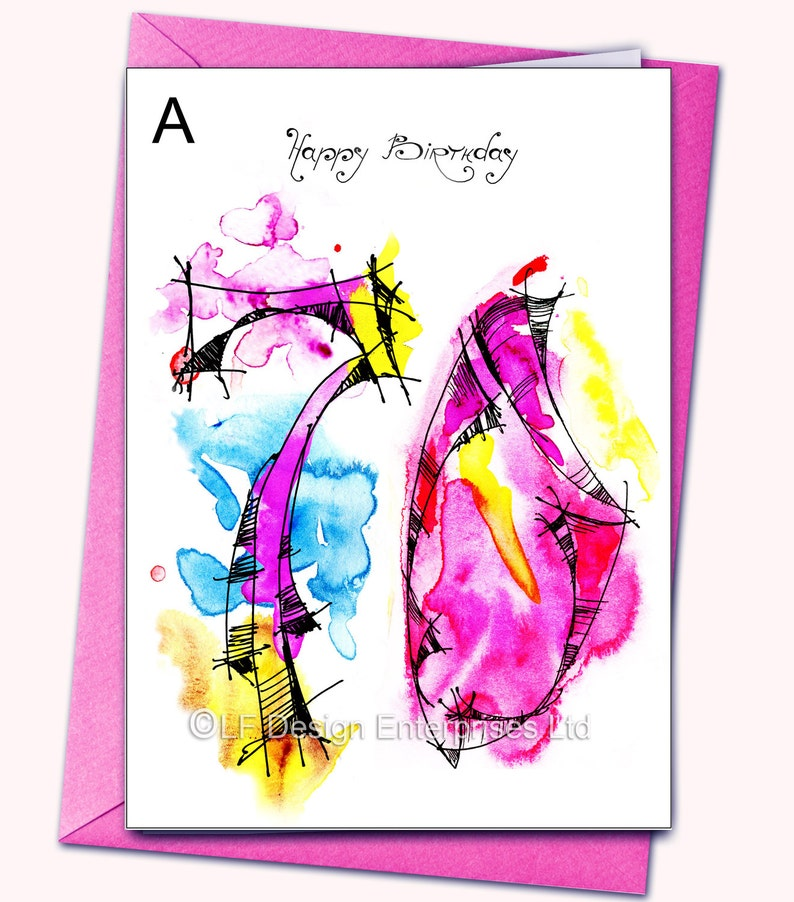 70th Birthday Greeting Card Personalised Cards Any Name On The Age Specific