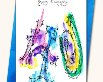 40th Birthday Greeting card, Personalised cards, Any name on the cards, Age specific birthday cards