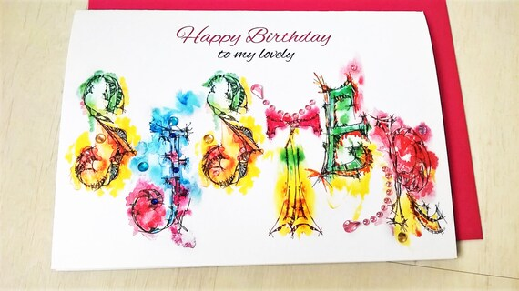 Happy birthday sister greeting card personalised cards any etsy image 0 m4hsunfo