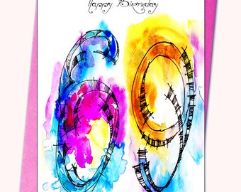 69th Birthday Greeting card, Personalised cards, Any name on the cards, Age specific birthday cards