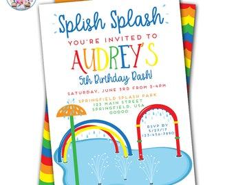 splash invitation etsy