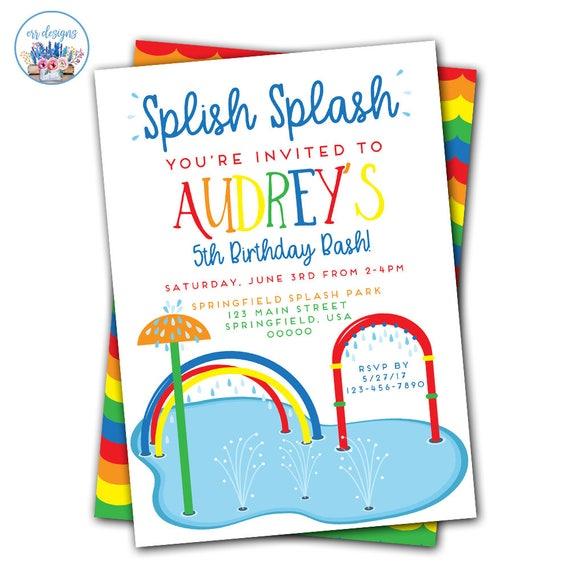 splish splash invitation splish splash birthday invitation etsy