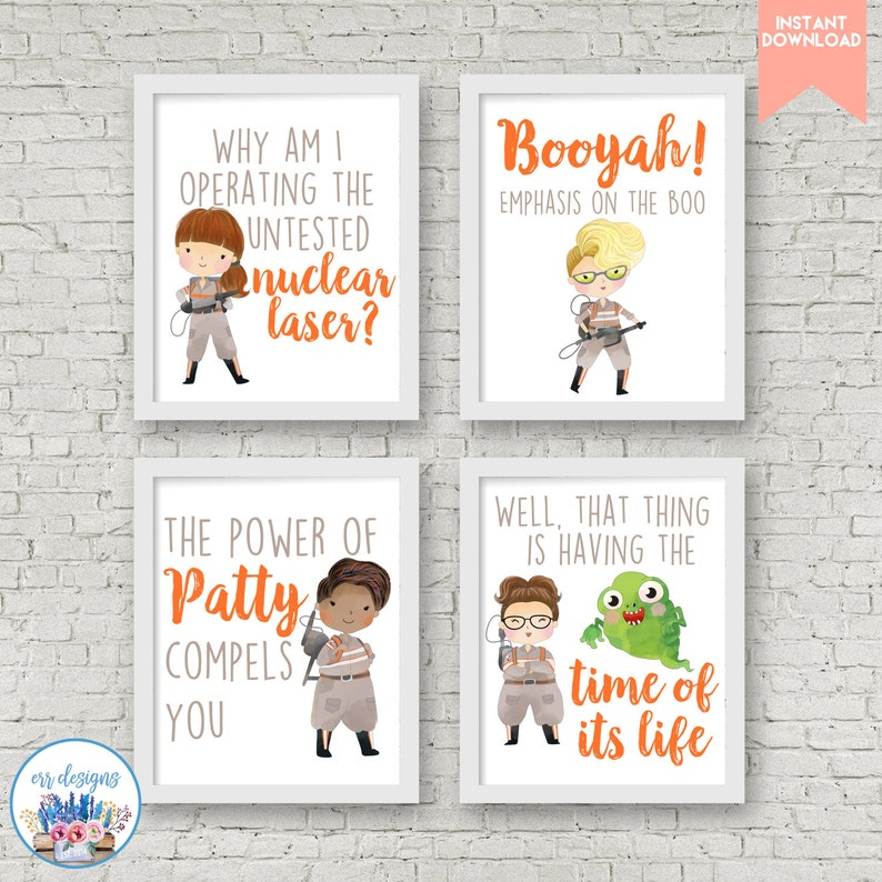 image about Ghostbusters Printable called Ghostbusters Printables, 8x10 Ghostbusters Signs and symptoms, Ghostbusters Electronic Printable, Female Ghostbusters