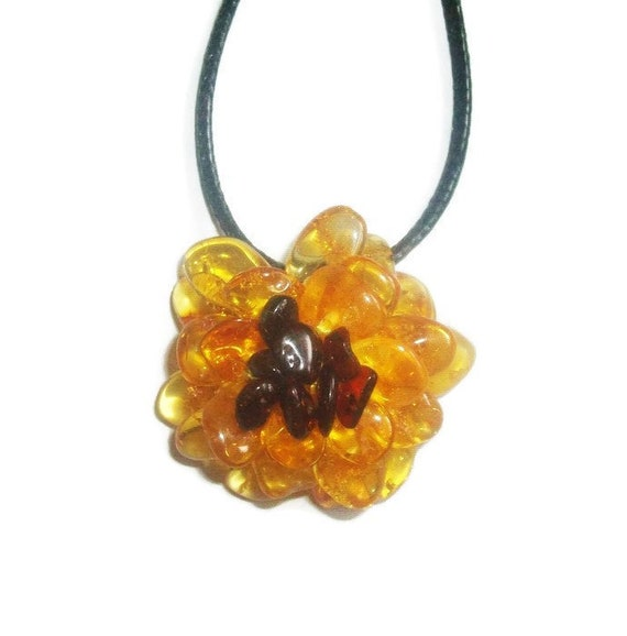 Baltic Amber Jewelry Amber necklace for woman Yellow Gemstone necklace handmade Natural stone beads necklace Birthday gift for woman mom