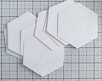 100Pieces 26mm Hexagon Paper templates for English Paper Piecing 0.1inch