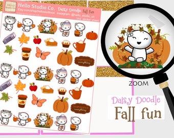 Fall planner stickers Pumpkin spice original doodle kawaii planner stickers