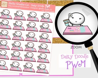 PWM planner stickersOriginal doodle kawaii stickers
