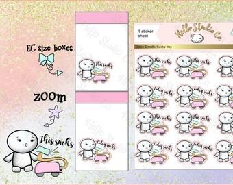 Bad day sucky day  emoti planner stickers Doodle stickers planner stickers