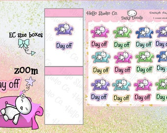 Day off planner stickers Emoti stickers Doodle stickers