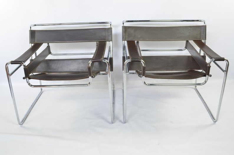 image 0 ... & Early Reproduction Pair of Wassily Chairs by Marcel Breuer | Etsy