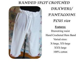 PLUS Size Split Crotch Drawers / Pantaloons