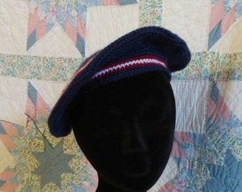 c669ae5780349 Patriotic Men s Crocheted Tam - Red
