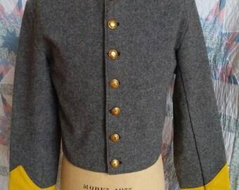 Giacca shell - lana grigia confederato arruolato giacca Shell con Trim di  cavalleria - taglia 36 38 - Era di guerra civile- ac4ef48f5242