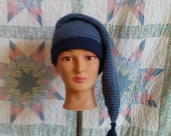 Blue Mens Stocking Cap - Camp Hat 5fcecd6ea20