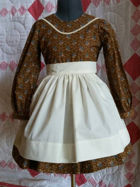 Victorian Girls School Dress And Apron Size 6  Etsy-3795