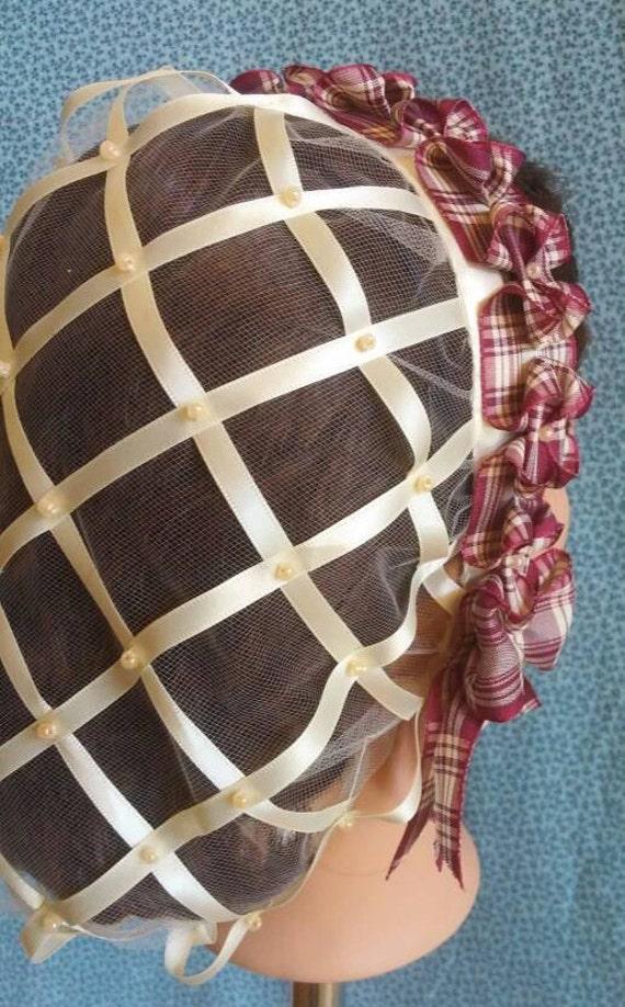 Creme Band Haarnetz mit Wahl der Band Coronet Pfirsich | Etsy