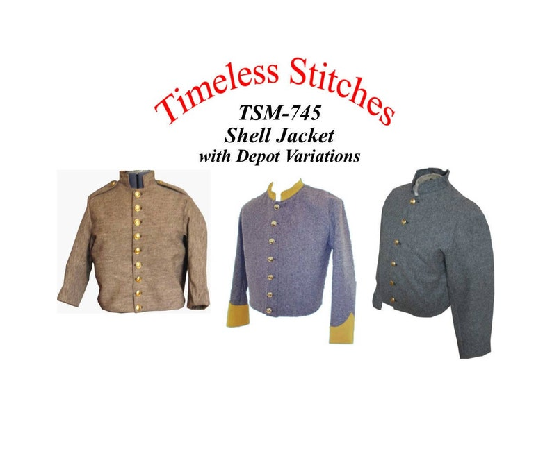 Shell Jacket with Depot Variations  union and Confederate  2e54d44ca