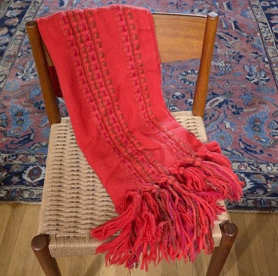 Vintage Wool Maria Svatina Shawl Scarf Hand Woven