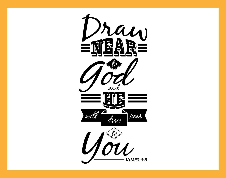 Acercaos a Dios y él se acercará a ti James 4:8 Nuevo | Etsy
