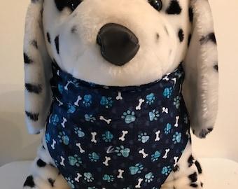 Blue Puppy Paws w/ Bones Bandana