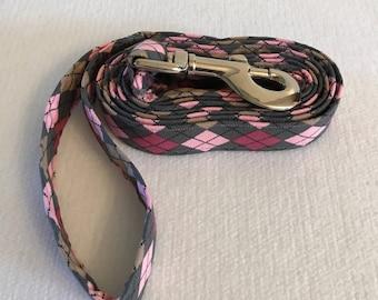 Pink/purple Argyle Dog Leash