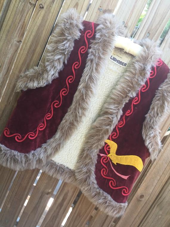 Vintage 70's Shearling Vest...