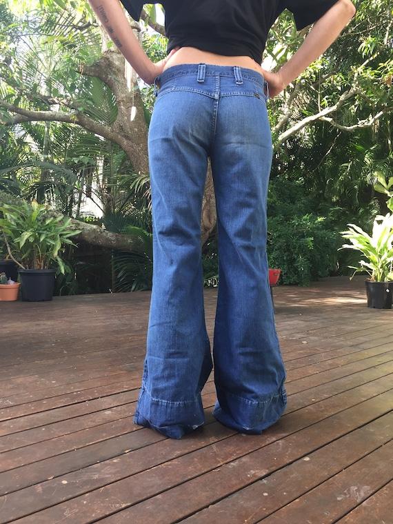 Vintage 70's wrangler bellbottom jeans - image 1