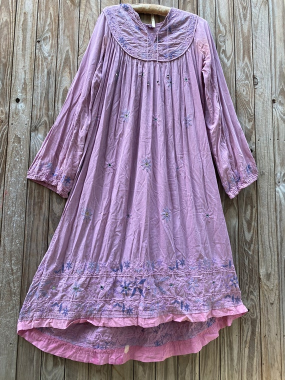 Vintage 70's Indian cotton dress - image 2