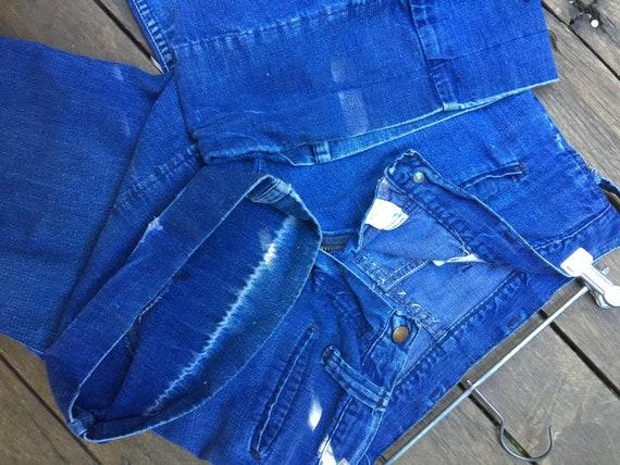 Vintage 70's wrangler bellbottom jeans - image 4