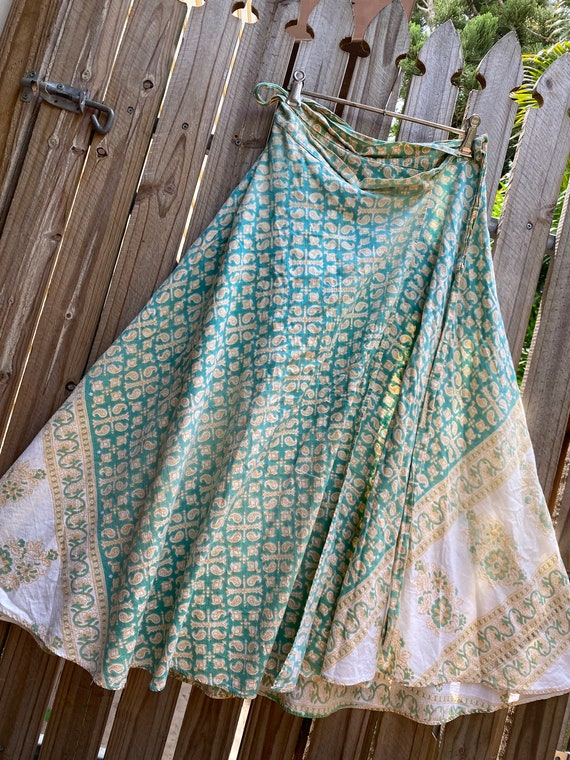 Vintage 70's Indian wrap skirt
