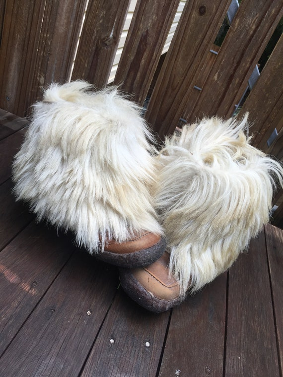 Vintage 70's goat hair boots