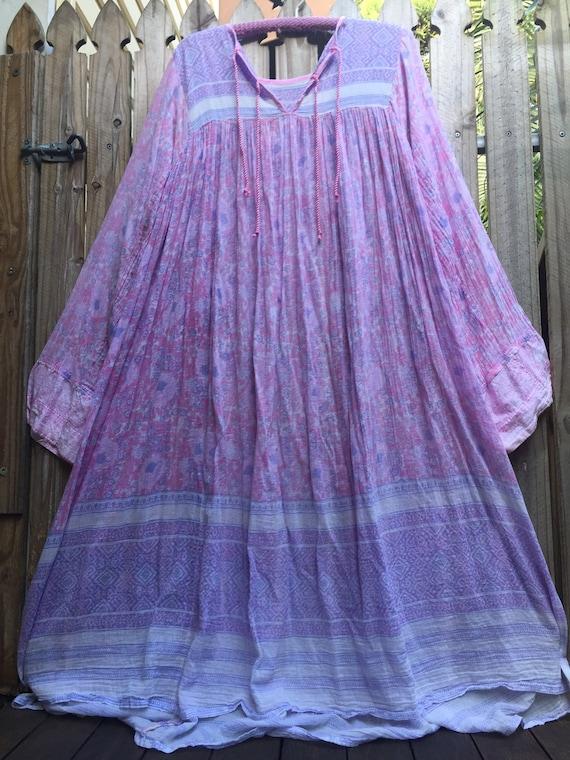 Vintage 70's Indian gauze dress