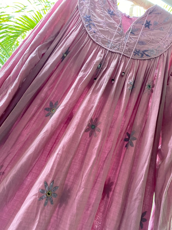 Vintage 70's Indian cotton dress - image 5