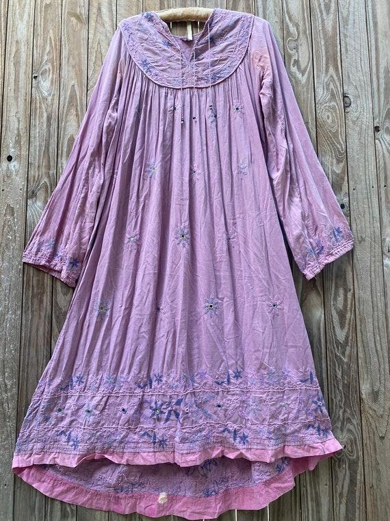 Vintage 70's Indian cotton dress - image 4