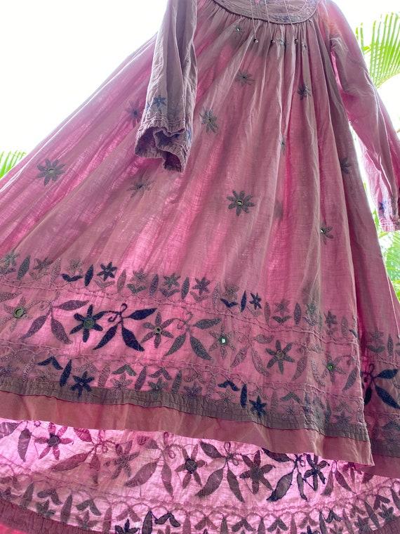 Vintage 70's Indian cotton dress - image 6