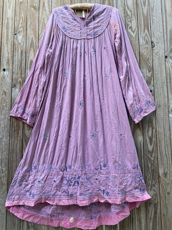 Vintage 70's Indian cotton dress