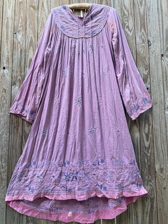 Vintage 70's Indian cotton dress - image 1