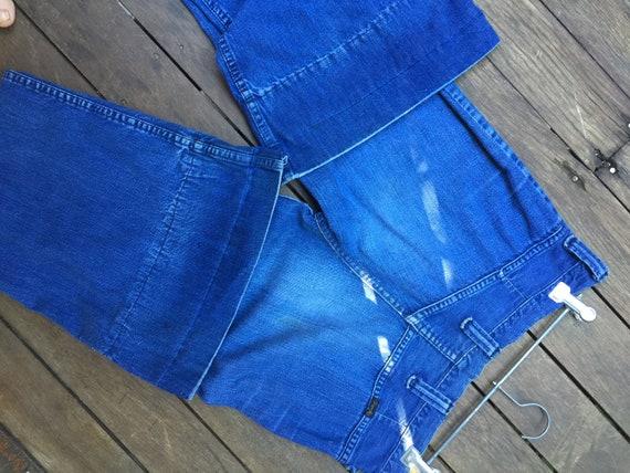 Vintage 70's wrangler bellbottom jeans - image 8